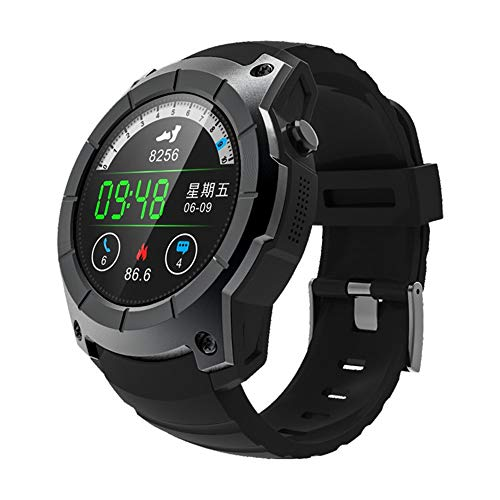 ZXJWH Smart Watch SIM, wasserdichter Tracker mit Heart Rate Blood Pressure Monitor, Color Screen Smart Armband mit Sleep Tracking Calorie Counter, Smart Watch für Kinder Frauen Männer,Black -