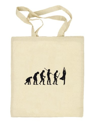 Shirtstreet24, EVOLUTION YOGA Stoffbeutel Jute Tasche (ONE SIZE) Natur