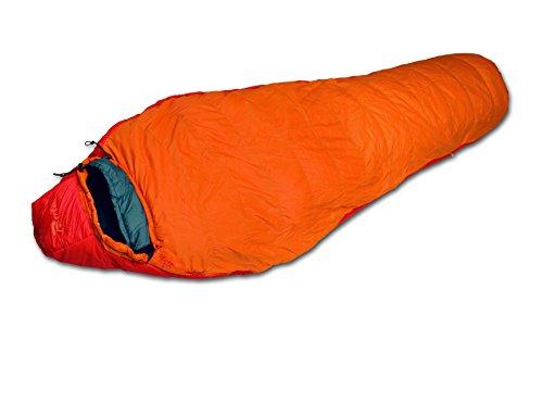 Bertoni Polar Lite 50 Sacco Letto da Campeggio, Arancione/Rosso/Grigio