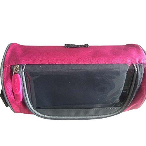 eleyooner groß Kapazität Staubbeutel Telefon Touch-Fahrrad Box Lenkertasche Fahrrad Korb Fahrrad Paket rose