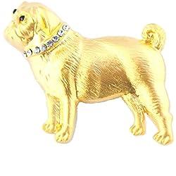 Brochemate chapado en oro diseño de carlino