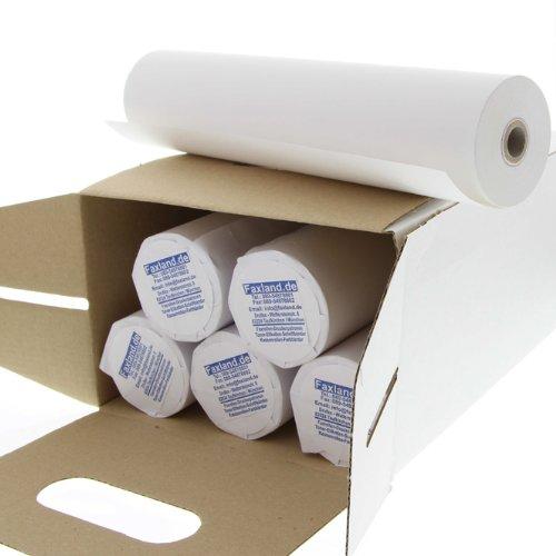 6 Faxpapierrollen 210x15x12 Thermopapier Faxrollen 210 mm 15 mtr 12 mm Kern