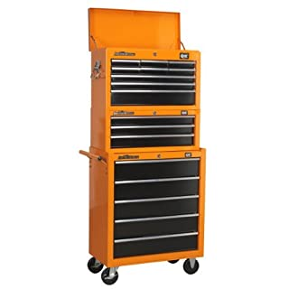 DJM 9 Drawer Top Chest Top Box + 5 Drawer Roller Cab Cabinet + 3 Drawer Add On Tool Box by DJM Direct