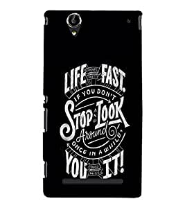 Motivational Quote 3D Hard Polycarbonate Designer Back Case Cover for Sony Xperia T2 Ultra :: Sony Xperia T2 Ultra Dual SIM D5322 :: Sony Xperia T2 Ultra XM50h