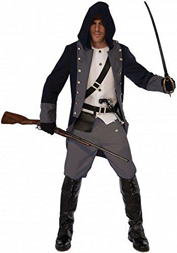 Herren Kostüm Silent Warrior - Gr. M/L Krieger Kämpfer Assassin Cosplay - Red Assassin Kostüm