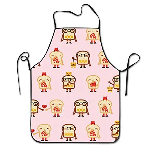 HTETRERW Toast Food Chef Aprons Funny BBQ Bib Intended For Adult Drill -