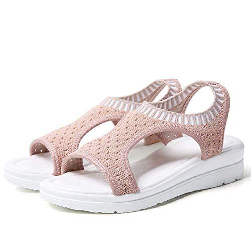 Sandalen Frauen Sommer Schuhe Peep Toe Casual Flache Sandalen Damen Atmungsaktive Air Mesh Frauen Plateau Sandalen -