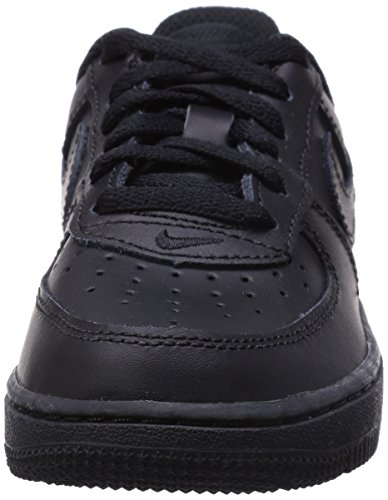 NIKE 314193 117 FORCE 1 (PS) Unisex - Kinder Sportschuhe Negro (Black / Black-Black)