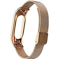Cooljun Bande en Acier Inoxydable de Luxe de Milanese Wristband,Bracelets pour Xiaomi Mi Band 3