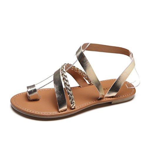 b0c1f8cda444 HOMEBABY® Women Sandals Shoes – Girls Summer Strappy Gladiator Low Flat  Heel Flip Flops ...