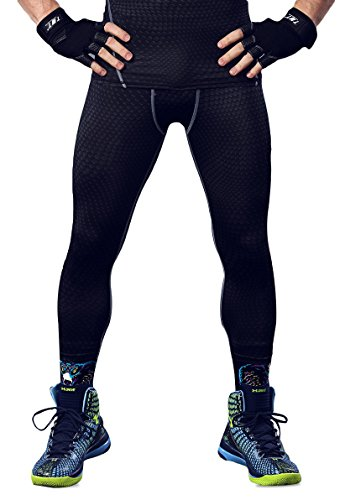 Cold Base Layer Legging (HonourSport Herren Kompressionshose Leggings Cool Base Layer Tights Joggingpants)