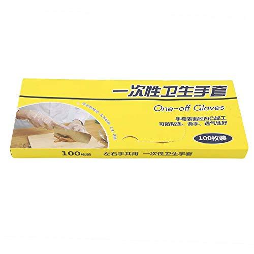 100 Teile/schachtel Transparent Klar Anti-Slip Einweghandschuh zum Kochen Pflege BBQ Zubehör Pack Set
