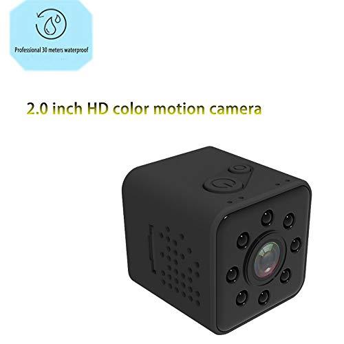 Zoiseo HD Glaslinse Action Cam, Infrarot Nachtsicht, 155 Super Weiten Betrachtungswinkel, Eingebauter Magnet, Aufnahme Beim Befüllen