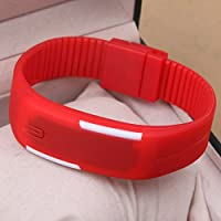 Ultra Thin LED Watch Unisex Digital Sports Watch For Kids | Birthday Gift | Birthday Return Gifts | Ultra Thin LED Watch Unisex Digital Sports Watch For Kids | Birthday Gift | Birthday Return Gifts | Red Color