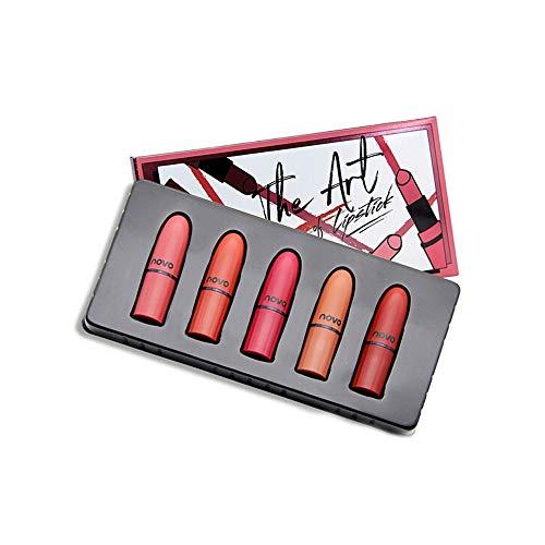 5pcs/set Lippenstift Feuchtigkeitsspendende Creme Samt Lippenstift Make-up Beauty Zolimx