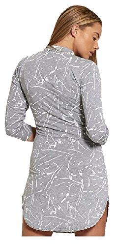 Janisramone - Robe - Robe tunique - Manches Longues - Femme * taille unique Gris