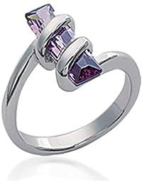 ISADY - Ilsa - Bague Femme - Argent 925 - Oxyde de zirconium violet