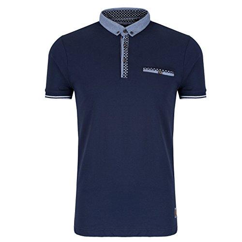 Brave Soul Herren Poloshirt Blau - Navy