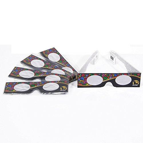 rnisbrille zertifiziert/Sonnensichtbrillen made in Germany - Silver/Gold Film OD 5.0 © AstroSolar/perro negro Sonnenfinsternis Brille für Ihre Familie ()