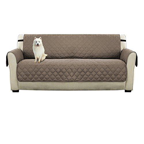 Watta rutschfester, doppelseitig verwendbarer Schonbezug für 3-Sitzer-Sofa in braunem, Schutz der Couch vor Hunden, beige, Sofa(3 seater) - Leder Traditionellen Sofa