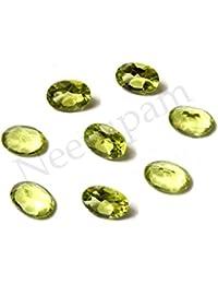 Neerupam Collection Vert clair Couleur Naturelle Afrique Péridot AA Qualité 7x5 mm Taille Facettes Ovale Forme Pierres précieuses en Vrac