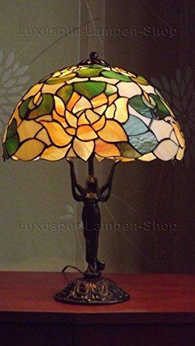 Decobay.eu Antike Tischlampe Giglio im Tiffany Stil (Tiffany Seerose)