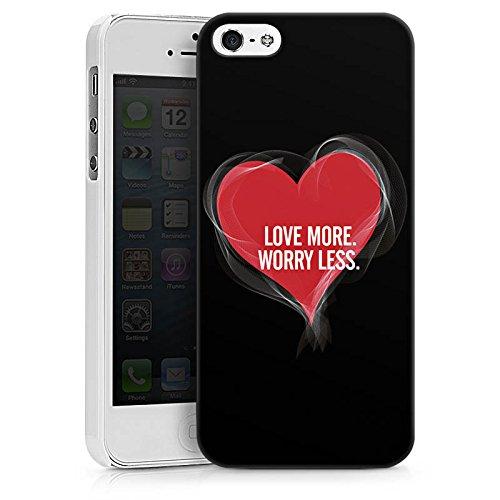 Apple iPhone X Silikon Hülle Case Schutzhülle Liebe Sprüche spruch Hard Case weiß