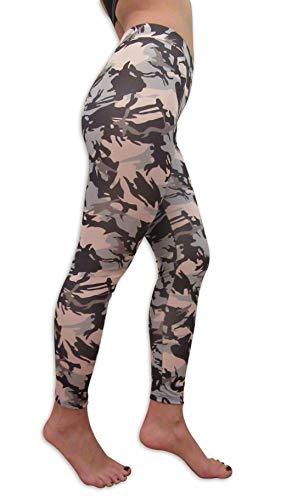 LifePushUp Damen Leggins - Full Length Normal Waist - Fitnesshose Damen - Trendy Print