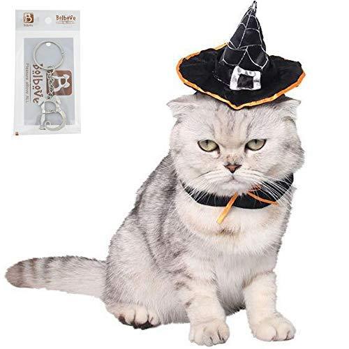 Bolbove Halloween Magic Hexe Hat Pet Wizard mit Kopfbedeckungen für Katzen und Kleine Hunde Party Kostüm Freien Größe