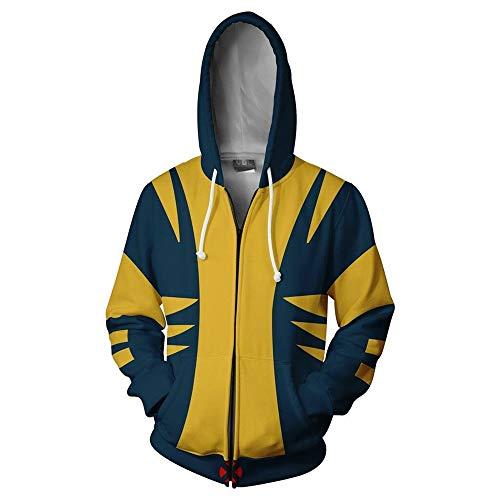 tshirt Unisex Pullover Kapuzenjacke Kleidung Mantel Reißverschluss Wolverine S ()