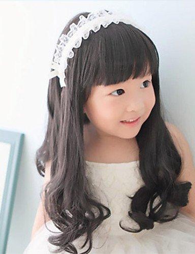 süsse Kinder der Prinzessin Curly Perücken Haar für die Fotografie 1-4Jahre alt Baby braun ()