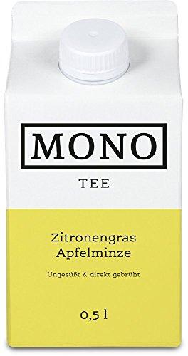 Diabetiker Tee (Mono Tee Bio-Eistee Zitronengras-Apfelminze, 8er Pack (8 x 500ml) ungesüßt, kalorienarm, direkt gebrühter Kräutertee - Ihre Alternative zu Wasser)