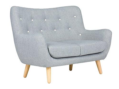 massivum Sofa Retro 130x95x80 cm Flachgewebe-Stoff Grau
