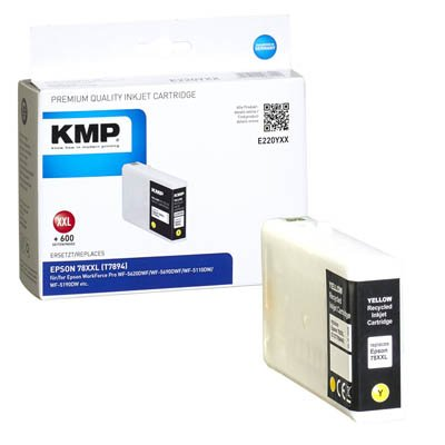 Preisvergleich Produktbild KMP e220yxx 42 ml 4600 Seiten Gelb Tintenpatrone – Tintenpatronen (Epson,  gelb,  Workforce Pro wf-5620dwf / wf-5690dwf / wf-5110dw / wf-5190dw,  42 ml,  4600 Seiten)