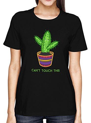 Kaktus #1 Premium T-Shirt | Can´t Touch This | Spaß | Coole Sprüche | Frauen | Shirt, Farbe:Schwarz (Deep Black L191);Größe:L