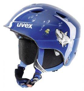 Uvex Kinder Skihelm airwing 2, Blue Shark, 48-52 cm