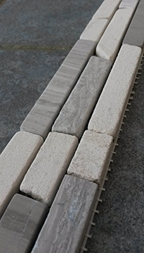 NEU Naturstein Matte Fliesen 30x30 cm Yawood Mosaik Grau Creme Mix Marmor M031