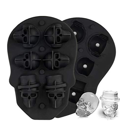 Molde para cubitos de hielo de calavera 3D, moldes para cubitos...