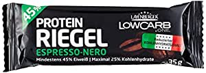 Layenberger LowCarb.one Protein-Riegel Espresso-Nero, 18er Pack (18 x 35 g)