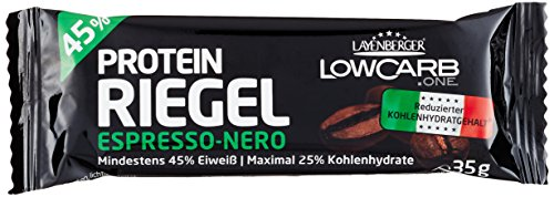 Layenberger LowCarb.one Protein Riegel Espresso Nero bar, 1er Pack (18 x 35 g)