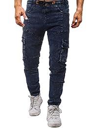 6dbac8e6605f5 2018 de Alta Calidad de la Nueva Moda de los Hombres Pantalones de Color  Sólido Sólido de la Elasticidad de los…