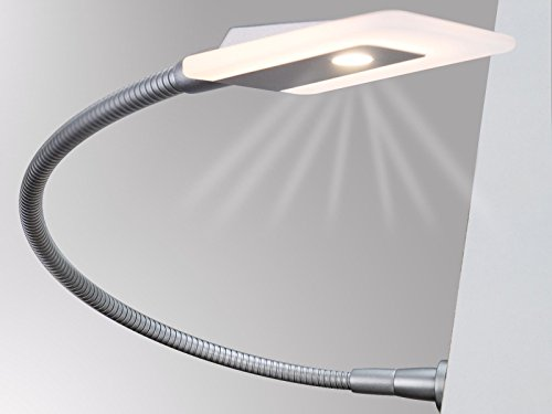 LED Bettleuchte Leseleuchte Flexleuchte Nachttischlampe Leselampe Nachtlicht, Modell:1er SET chrom