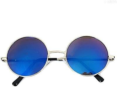 Mano® IR700Retro Metal John Lennon iridiscente espejo lente gafas de sol UV400-paquete de 2
