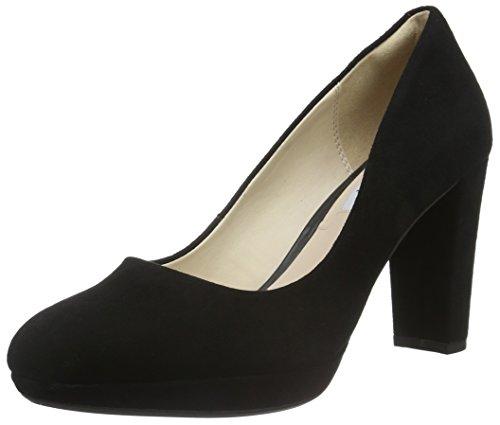Clarks Kendra Sienna, Zapatos de Tacón para Mujer, Negro (Black Suede), 35.5 EU