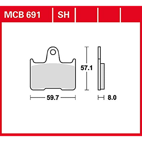 Kit Lucas MCB691SH Pastiglie per Honda CB 1300X4SC38  Honda VT 750CSA Shadow ABS RC50  Kawasaki GTR 1400ABS  , Kawasaki GTR 1400ABS zgt40  Kawasaki ZZ-R R 1400ABS zxt40  MZ 1000S   MZ 1000SF   MZ