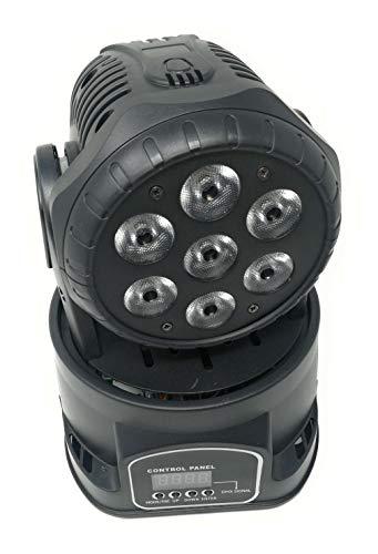 OEM Lampe LED RGB Kopf schwenkbar Mobile diskoeffekte 7LED 10W LED WASH DMX Oem Mobile