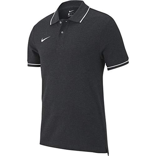 Nike Herren M TM CLUB19 SS Polo Shirt, Grau (Charcoal Heathr/White/071), Gr. L