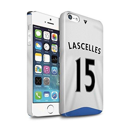 Offiziell Newcastle United FC Hülle / Glanz Snap-On Case für Apple iPhone SE / Elliot Muster / NUFC Trikot Home 15/16 Kollektion Lascelles