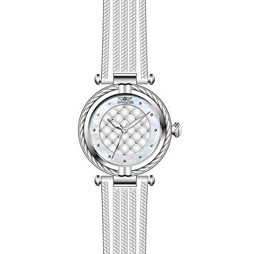 Invicta Bolt Femme Bracelet Caoutchouc Blanc Quartz Analogique Montre 28941