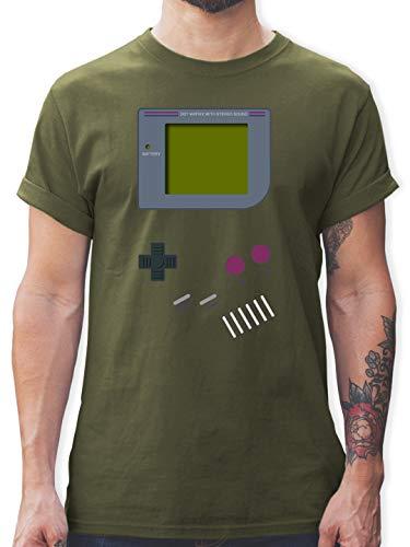 Grüne Kostüm Boy Army - Nerds & Geeks - Gameboy - XL - Army Grün - L190 - Herren T-Shirt und Männer Tshirt